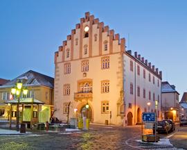 Rathaus am Marktplatz in Hammelburg