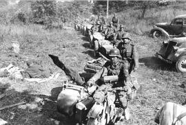 La Brigade JESSER, composée d'une colonne motorisée d'une centaine de véhicules