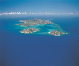 Inselgruppe am Great Barrier Reef