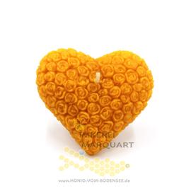 Souvenir vom Bodensee Herzkerze aus Bienenwachs