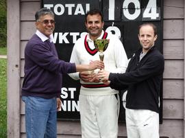 A.Koshy, S.Muhammad (MoM) & P.Kirkpatrick (winning skipper)