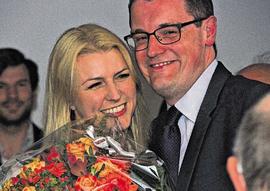 Tim Grüttemeier mit seiner Frau Nina