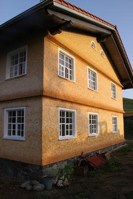Fichte Rundschindeln von Greussing Holzschindeln im Allgäu