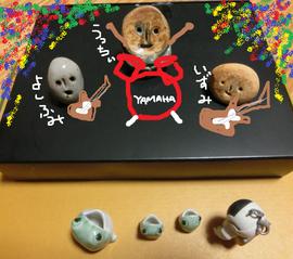 スプロケ人形によるライブ想像図♪ウッチーの好きなスプロケフォーメーションAだよ。