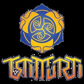 Trimurti Symbol - Manifestation der göttlichen Drei-Einheit von Brahma-Vishnu- und Shiva.