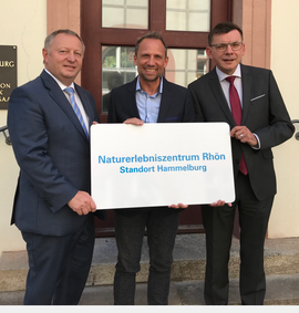 Bekanntgabe der Außenstelle Hammelburg des Naturerlebniszentrums Rhön durch Umweltminister Thorsten Glauber