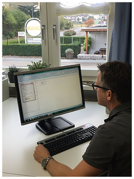 Thomas Rutishauser, CEO Burag AG bei der Arbeit