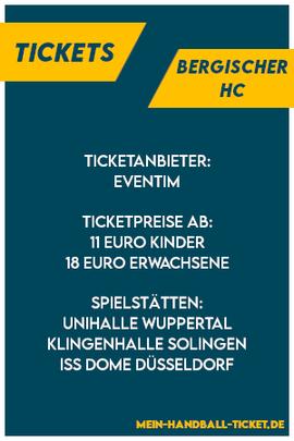 BHC Tickets Bergischer HC
