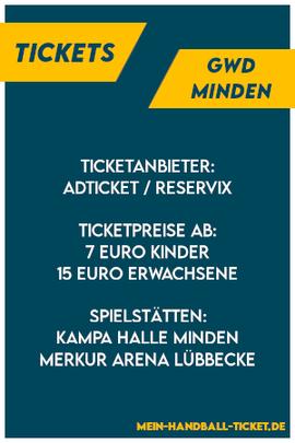 GWD Minden Tickets 2021/2022