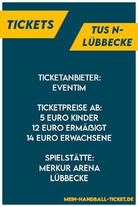 TuS N-Lübbecke Tickets