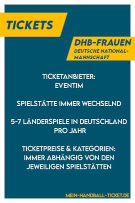 Deutsche Handball-Nationalmannschaft Frauen Tickets