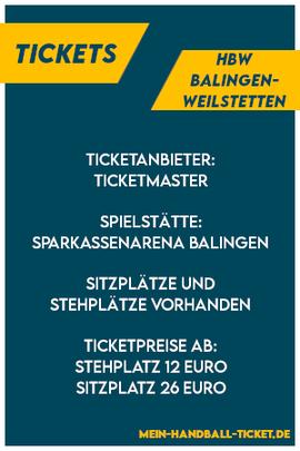 HBW Balingen-Weilstetten Tickets 2021/2022
