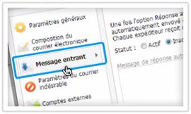 Comment transférer les e-mails du compte webmail vers une autre adresse ?