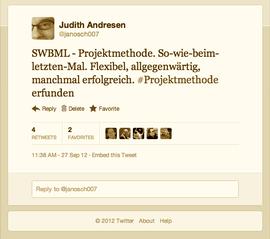 SWBML - Projektmethode. So-wie-beim-letzten-Mal. Flexibel, allgegenwärtig, manchmal erfolgreich. #Projektmethode erfunden