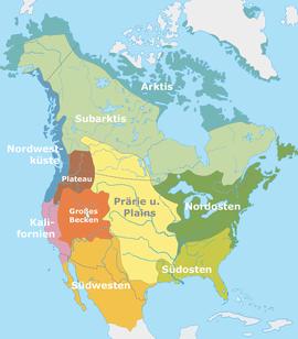Nordamerikanische Kulturareale nach Alfred Kroeber