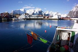 Fischerboote im Hafen von Hamnøya. © Robert Hansen, Hamnøya, April 2014