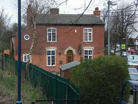 19th-century house alongside the railway