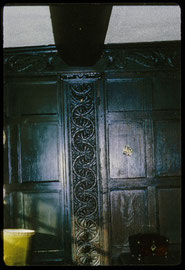 A panelled room in Bells Farm photographed in 1969 by Phyllis Nicklin - see Acknowledgements, Keith Berry.