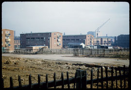 Browning Street maisonettes photographed in 1957 by Phyllis Nicklin. See Acknowledgements - Keith Berry.