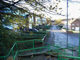 The Firs estate, Vallian Croft, viewed from Newport Road.
