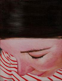 Audrey    /  huile sur toile  /    32,5 x 25
