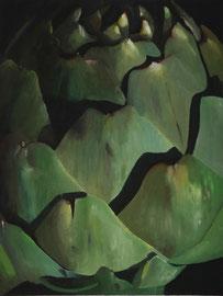 Artichaut-2    /  huile sur toile  /    59 x 44,5
