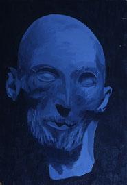 Géricault-d'après_son_masque_mortuaire    /  huile sur bois  /    44,5 x 30,5