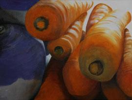 8Carottes_2Navets    /  huile sur toile  /    61 x 46