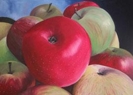 Pommes-919    /  huile sur toile  /    84,5 x 60,5