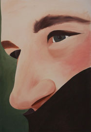 Autoportrait    /  huile sur toile  /    120 x 83