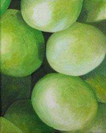 Raisins_Verts-01    /  huile sur toile  /    24 x 30