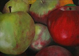 Pommes_927    /  huile sur toile  /    84,5 x 60,5