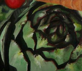 Artichaut_+_Carotte_&_Tomate    /  huile sur toile  /    34 x 39