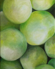 Raisins_Verts-02    /  huile sur toile  /    24 x 30