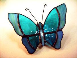 Mariposa, Modulo de pared. Técnica cinta de cobre.