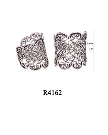 R4162 OXI 60: FILIGREE RING LOTUS FLOWER