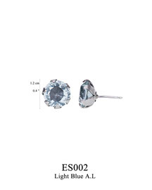ES002: OXI 34, G OF E OXI POST EARRING LIGHT BLUE A.L. IN CUP.