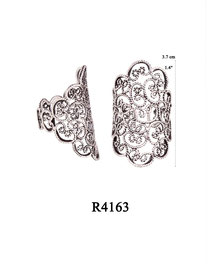 R4163 OXI 58:  FILIGREE RING LOTUS FLOWER