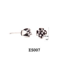 ES007 OXI 35, GP 41: EARRING POST, SOLID LOTUS FLOWER.