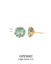 GPES002: GP 39, G OF E GP POST EARRING LIGHT GREEN A.L. IN CUP.