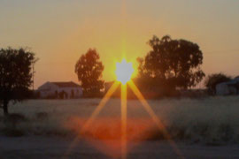 SUNRISE IN GRUENAU NAMIBIA