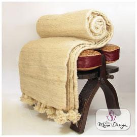 Tagesdecke Wolldecke Schurwolle Weiß Wolle Bettdecke Gardine Überwurf Vorhänge Plaid orientalische Decken Couch rGardinen Casa Mina Design