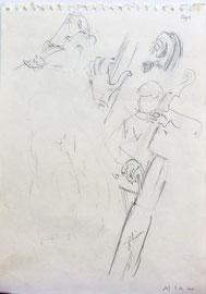 *949- Tous ces dessins sont réalisés sur mon carnet de croquis, format 30 x 40.