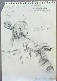 """*941- Ici c'est """"Lulu"""" qui s'est reconnue, car à l'issue du cours, ils venaient tous voir mes dessins.."""