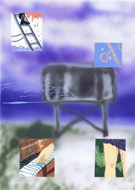 Auf der Steppe, acrylics on paper