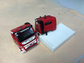 Volvo FMX / Fahrerhäuser für Wechsellade-Fahrzeuge der Berufsfeuerwehr Bern (nachher)