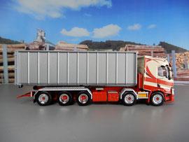 Renault T mit Container,  Kettensystem / Interspan Tschopp