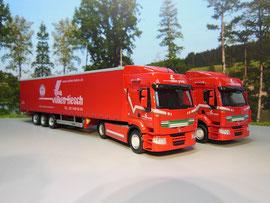 """Nummer 58 & 58 Renault Premium / """"volken beton"""" / Volken Fiesch (Volken Group)"""