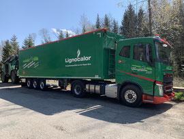 Küpfer Forstunternehmung AG / Lignocalor, Volvo FH mit Stahlstossstange, Foto: Thomas Sommer