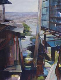 """Sierra, aus der Reihe """"Santa Domingo"""", Acryl und Öl auf Leinwand, 180x140cm, 2014 ©Dorothee Liebscher"""